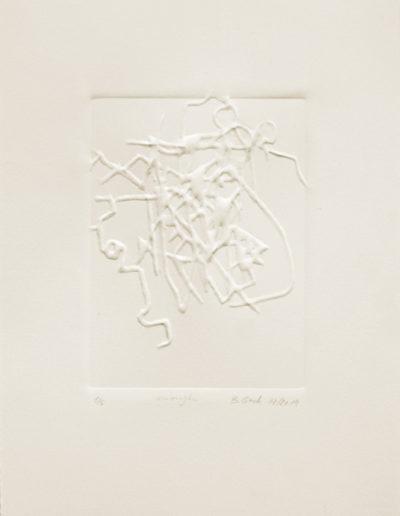 enough | embossing | 40 H x 28 W cm | 2019 | Barbara Back
